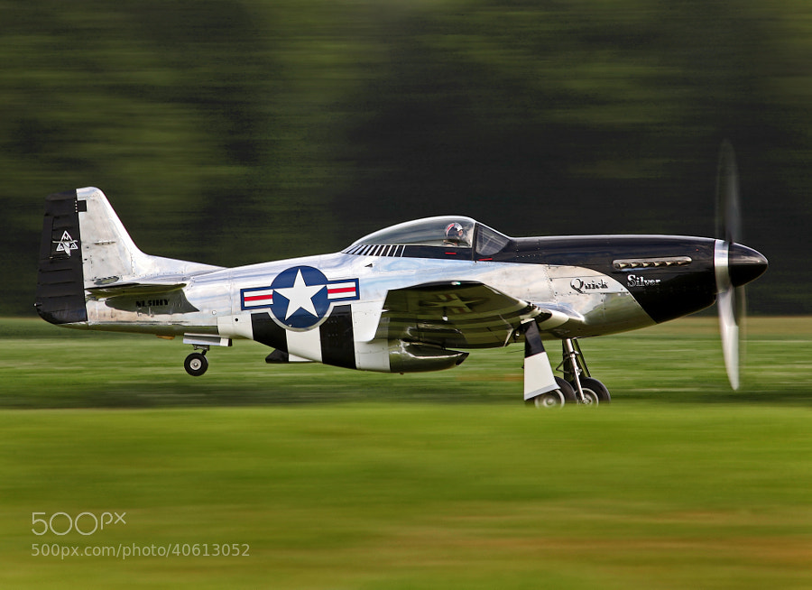 "P-51D ""Quick Silver"" a tribute to America's Veterans."
