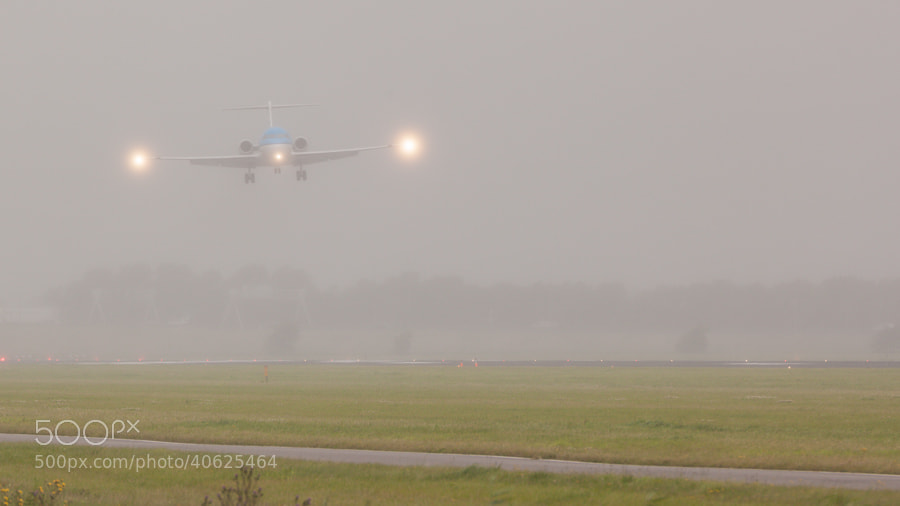 Photograph KLM Fokker F70 Landing at Schiphol by Hans Woltering on 500px