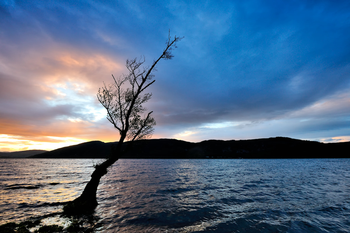 Photograph sunset on Loch Ness by Andrea Correale on 500px