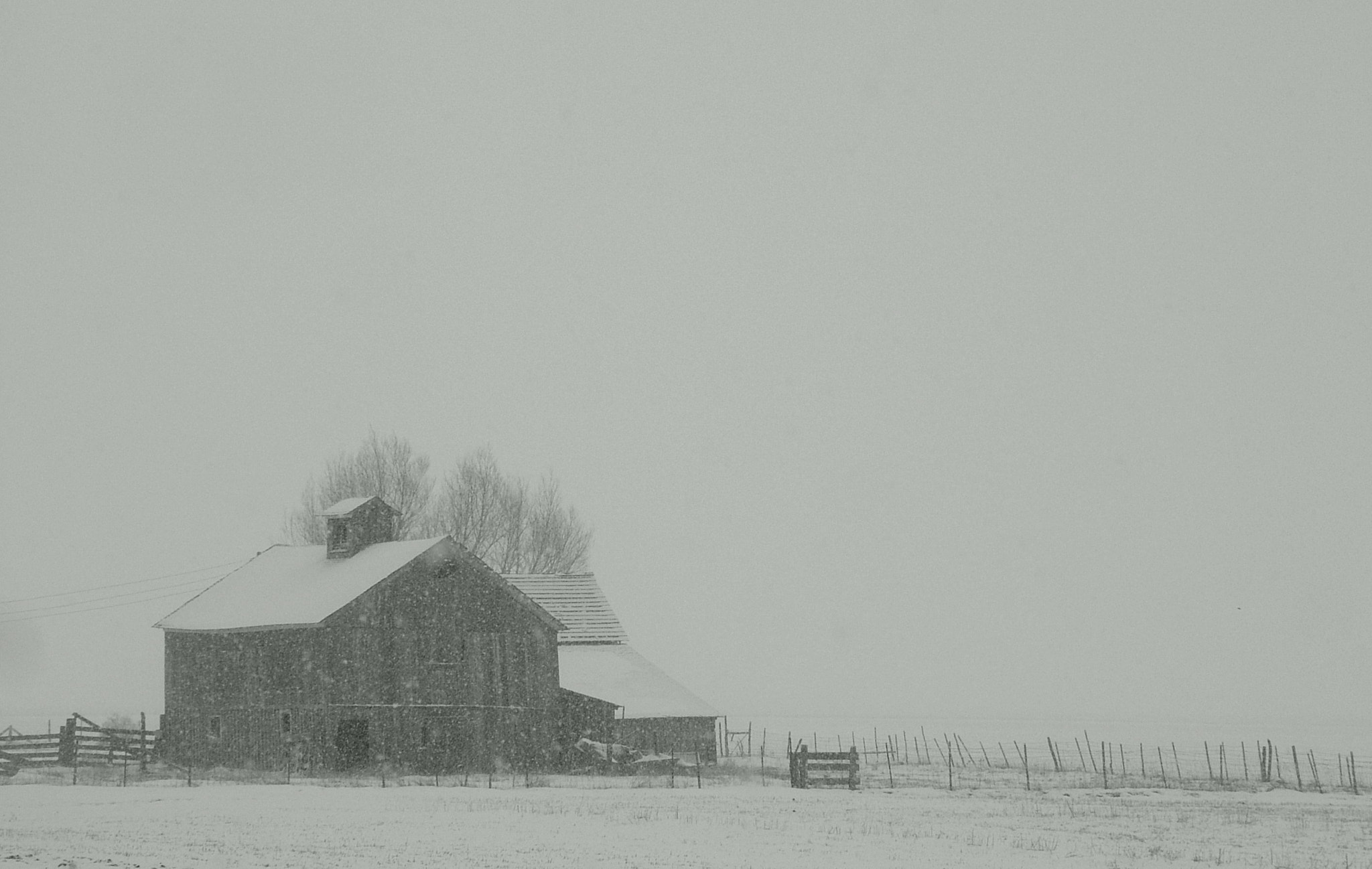 Photograph Barn on a Snowy Day by Sandee Gass on 500px
