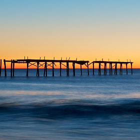 This old pier is a favorite subject of mine. It has withstood many storms over the years.