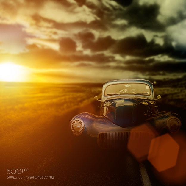 Photograph classic car on country road by Steve Shepherd on 500px