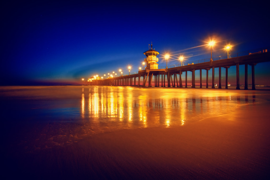 Photograph Huntington Beach Blue Hour by Shane Lund on 500px
