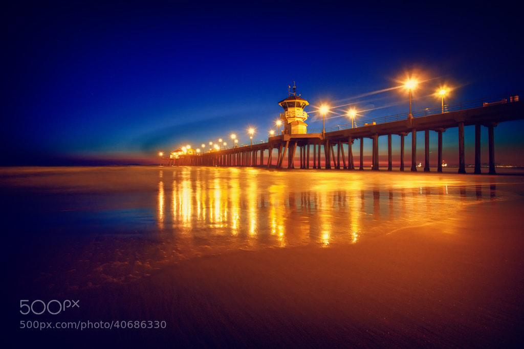 Photograph Huntington Beach Blue Hour by Shane Lund on 500px