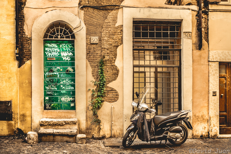 Photograph Trastevere Scooter by David Juan on 500px
