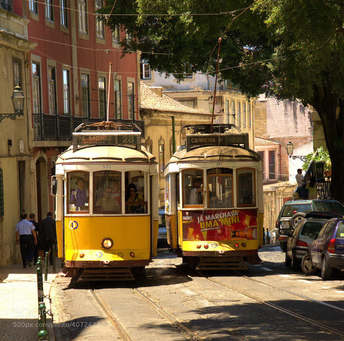 Photograph Lisbon historical tram by Edzo Boven on 500px