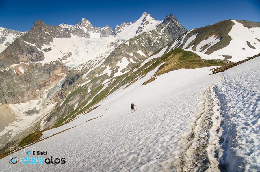 Photograph Neve nei miei passi (Val Ferret, Valle d'Aosta - Vallée d'Aoste) by Francesco Sisti on 500px