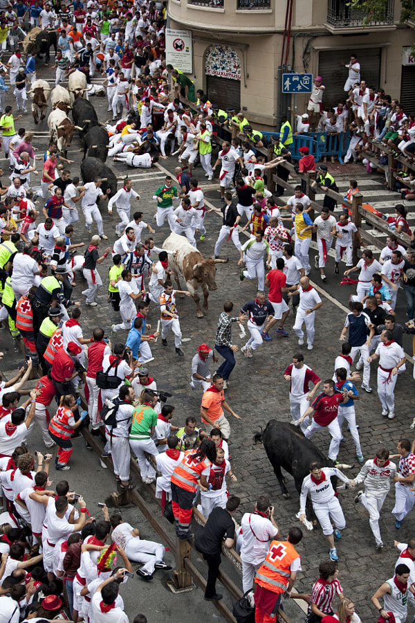 Photograph 13 July, runnig of the bulls by David  on 500px