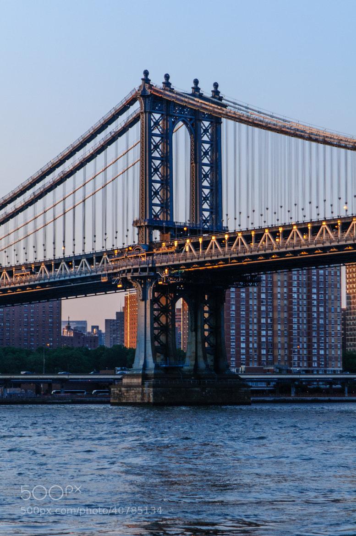 Photograph Sunset on Manhattan Bridge by Christopher Ryan on 500px