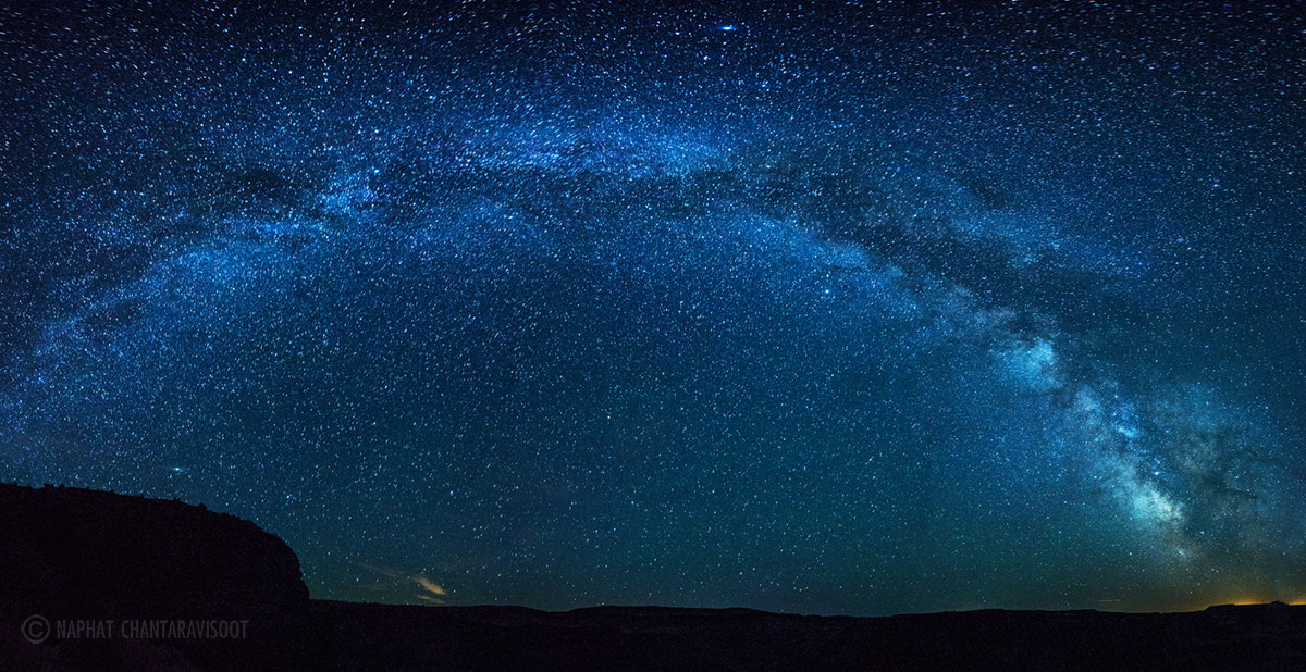Photograph Milky Way over Palouse Falls by Nae Chantaravisoot on 500px