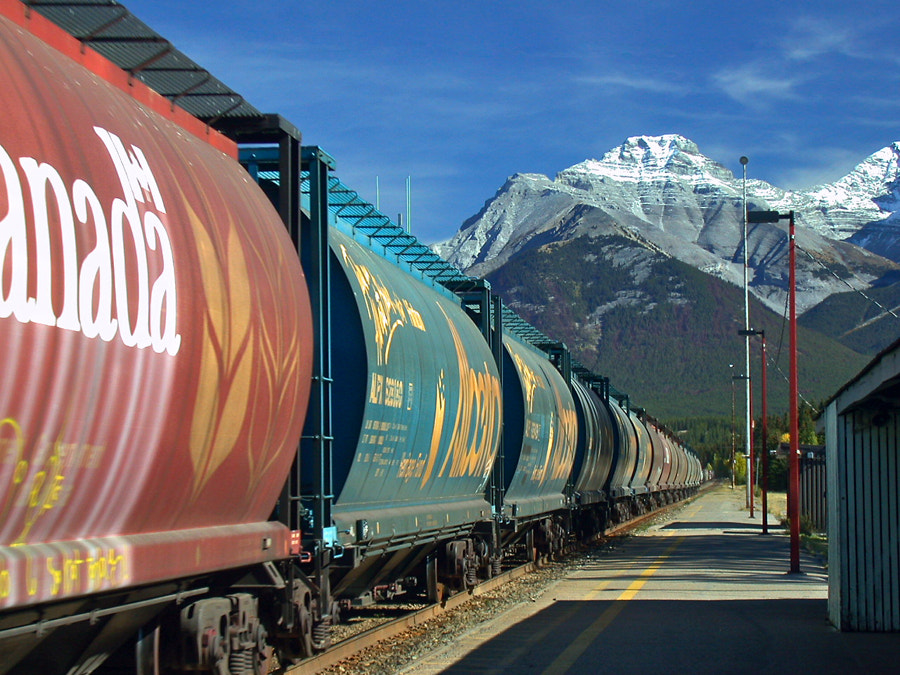 Photograph Banff train by Jack Booth on 500px
