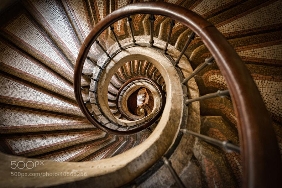 Spiral staircase, Hotel Gargantua, Chinon