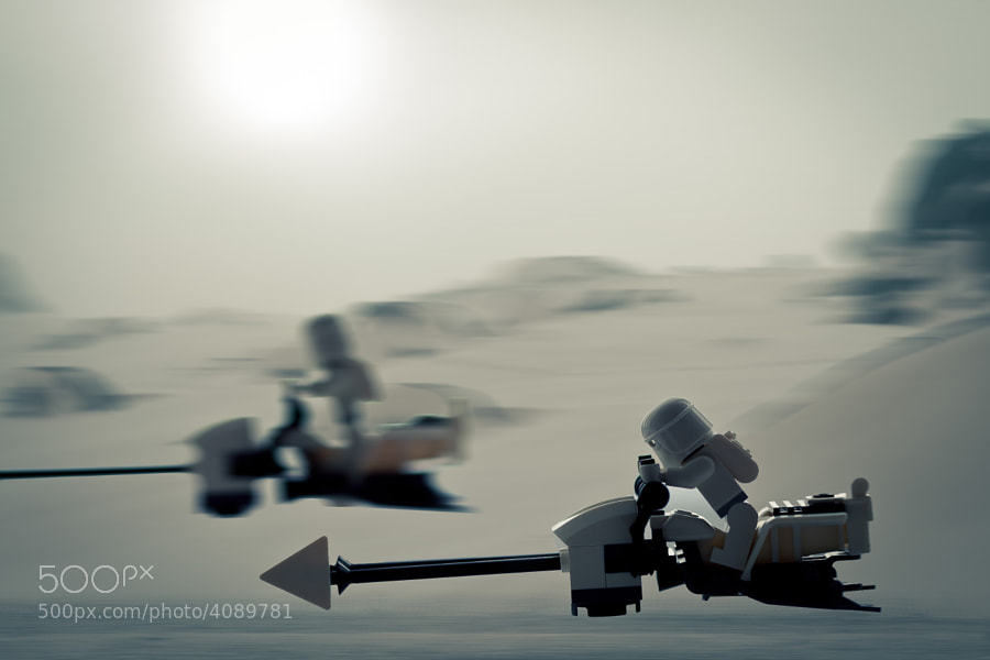 Photograph Snow Speeder racing by Al Power on 500px