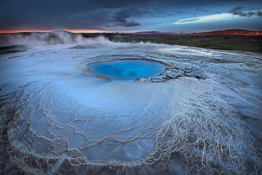 Blue hole ansulfur in Hveravellir, Iceland by Roberto Iván Cano on 500px.com