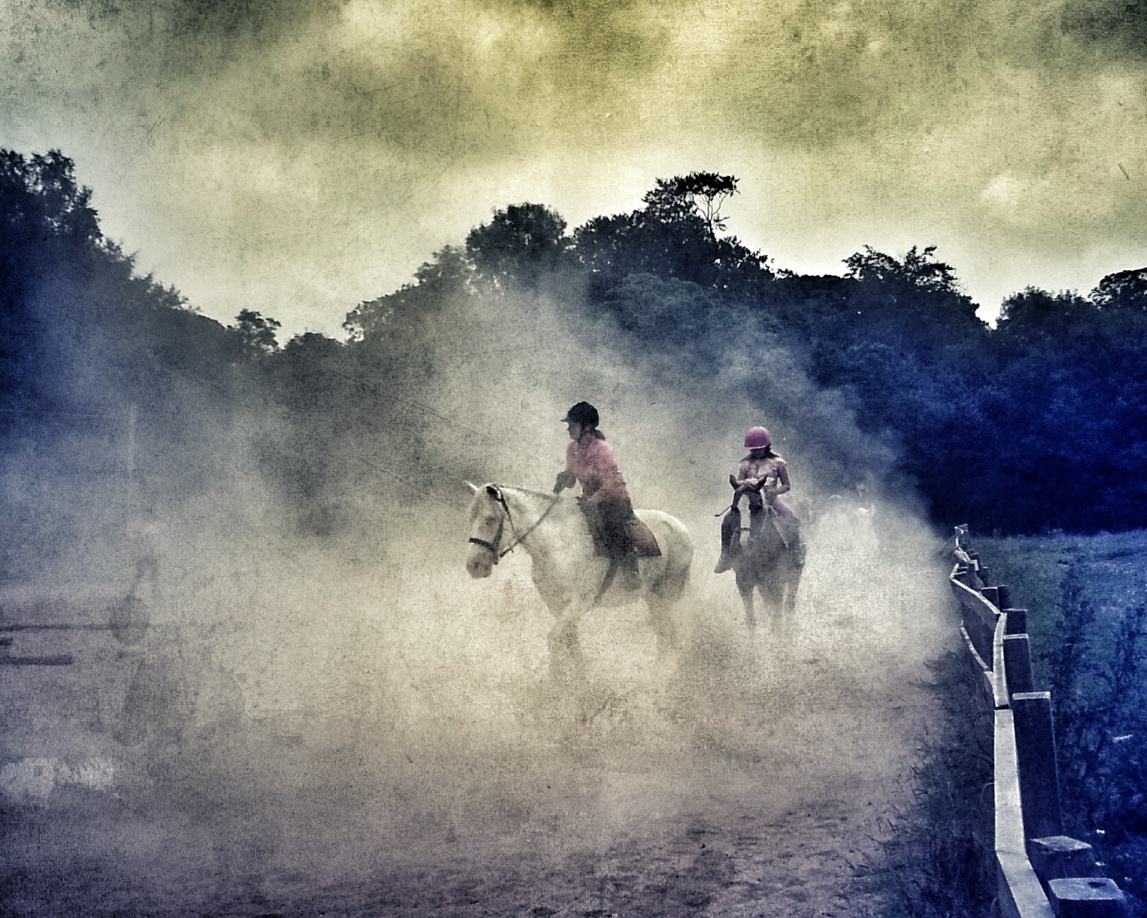 Photograph Horse riding through the dust by Taz Wake on 500px