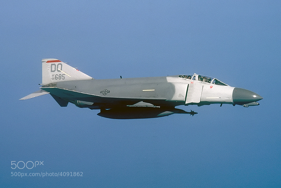 F-4D, high over Lake Huron, 17 July 1987.  Scanned from a Kodachrome slide.