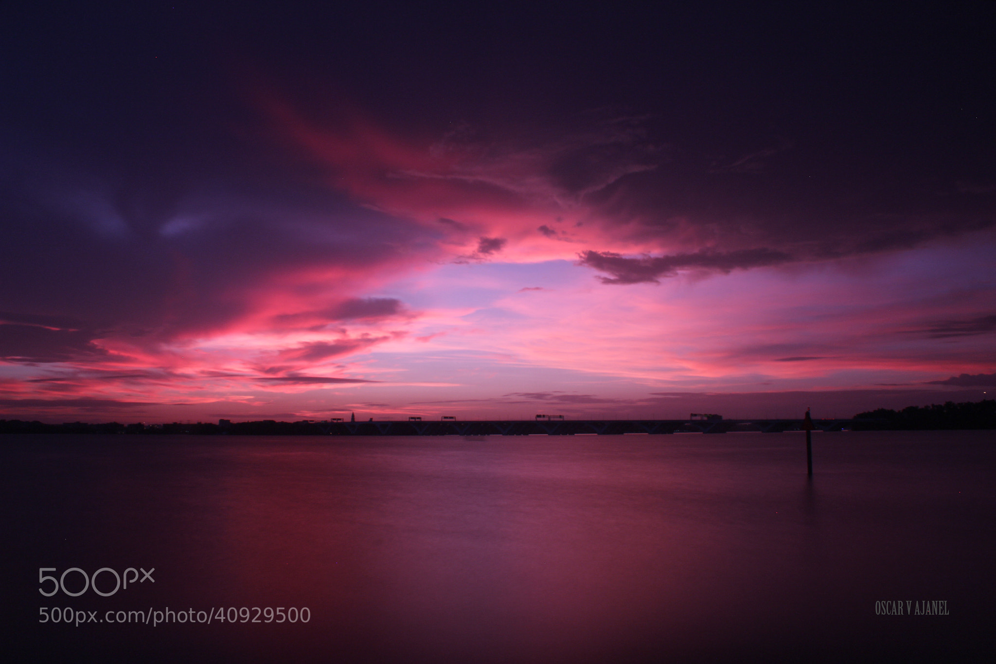 Photograph Pink & purple sunset by Oscar V Ajanel on 500px