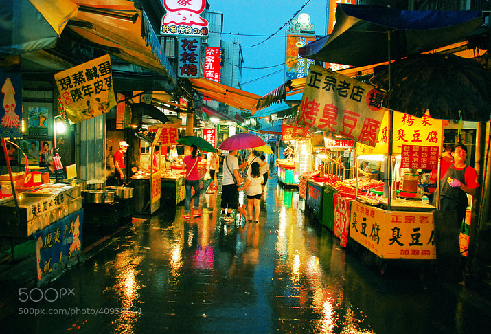 Photograph Rainy night crowds by cljb Y on 500px