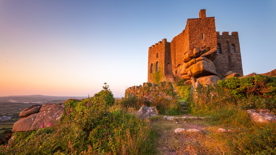 Carn Brea Castle Sunset