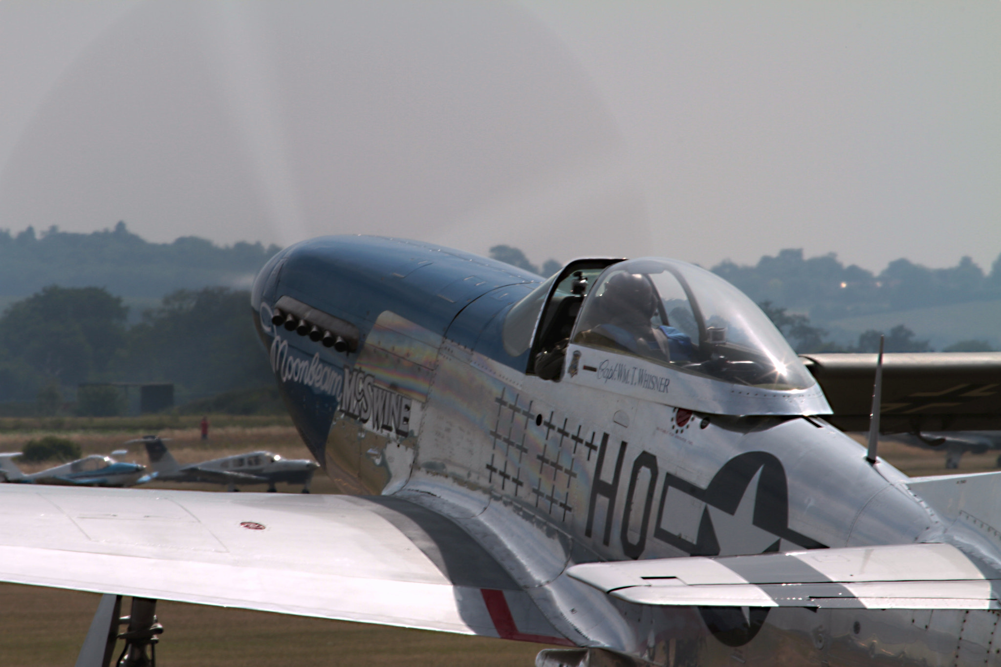Photograph North American P-51D Mustang Running up by Ian Porter on 500px