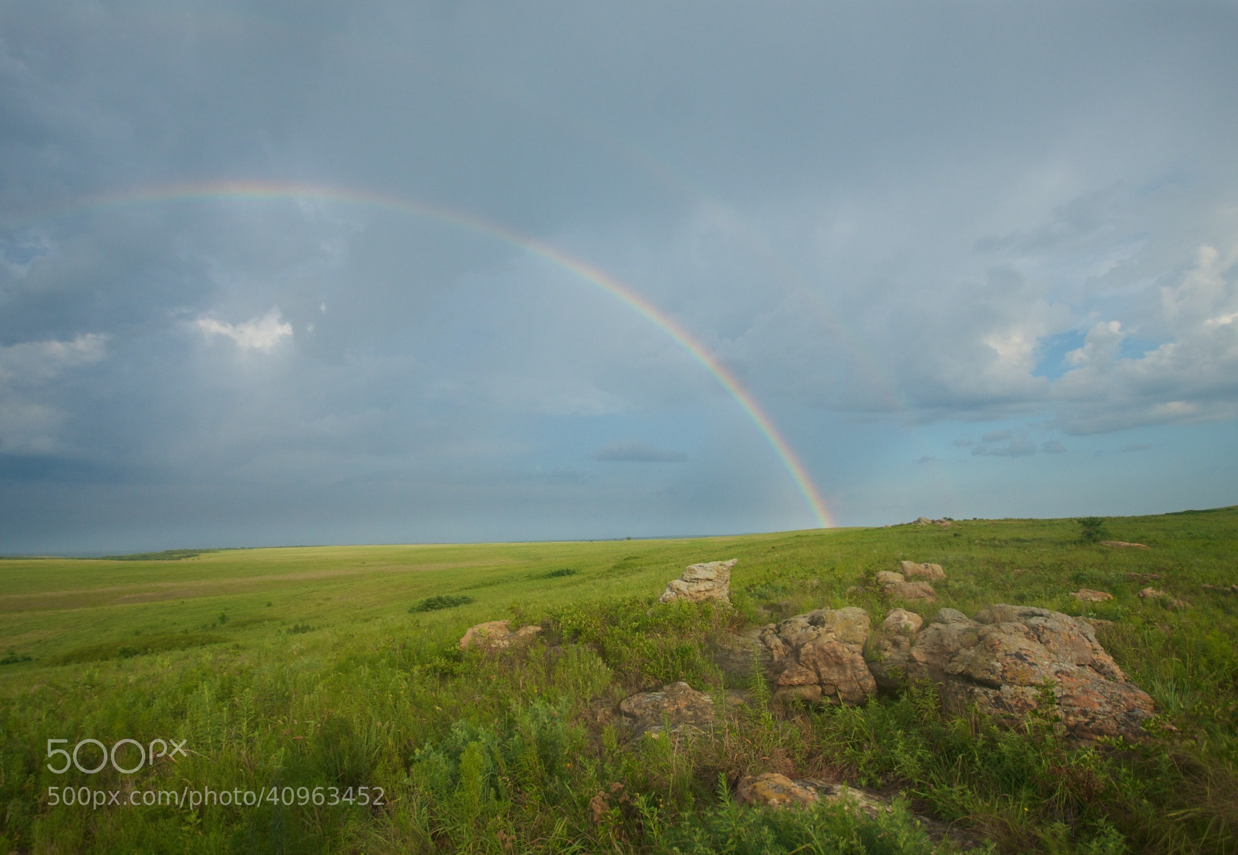 Photograph Rainbow over the Tallgrass by Mike Fuhr on 500px
