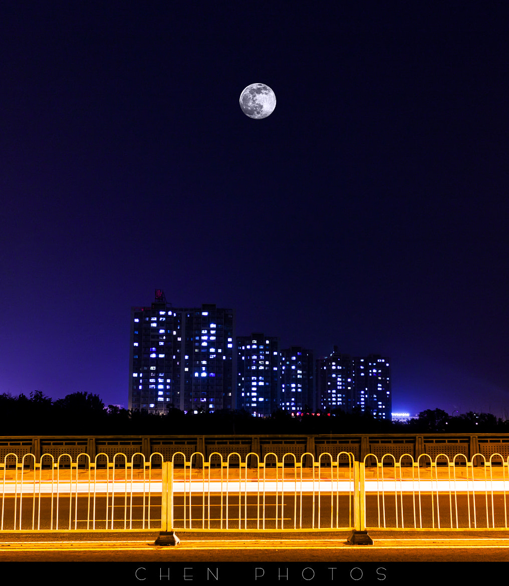 Photograph moon night by Evan Chen on 500px