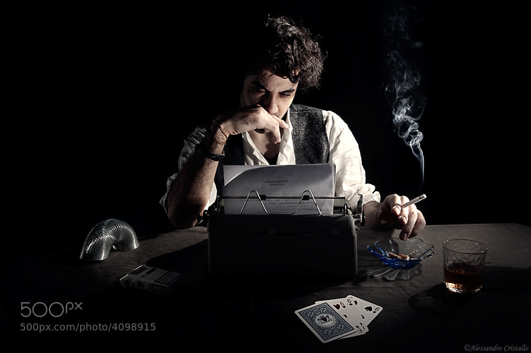 Photograph a writer by Alessandro Cristallo on 500px