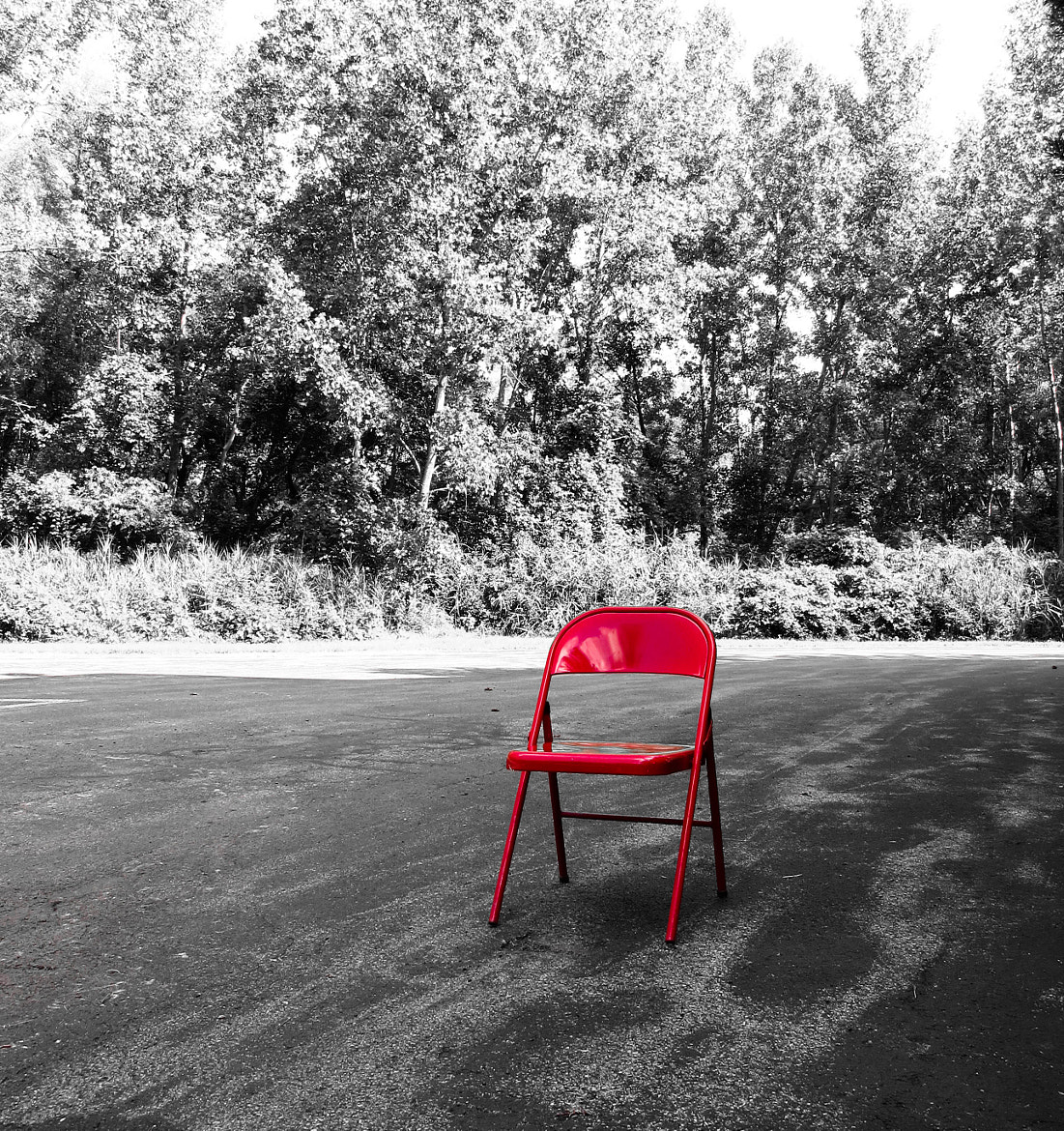 Photograph One Red Chair by Catskills Photography  on 500px
