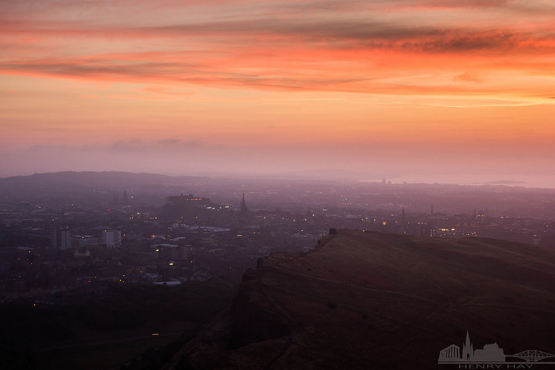 Photograph Sunset over Edinburgh by Henry Hay on 500px