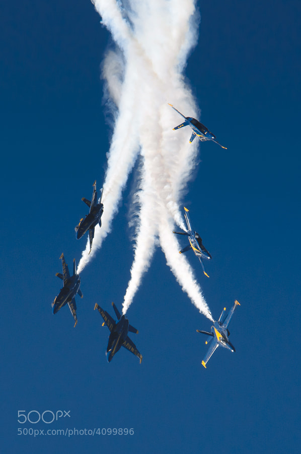 The Blue Angels over NAS Pensacola