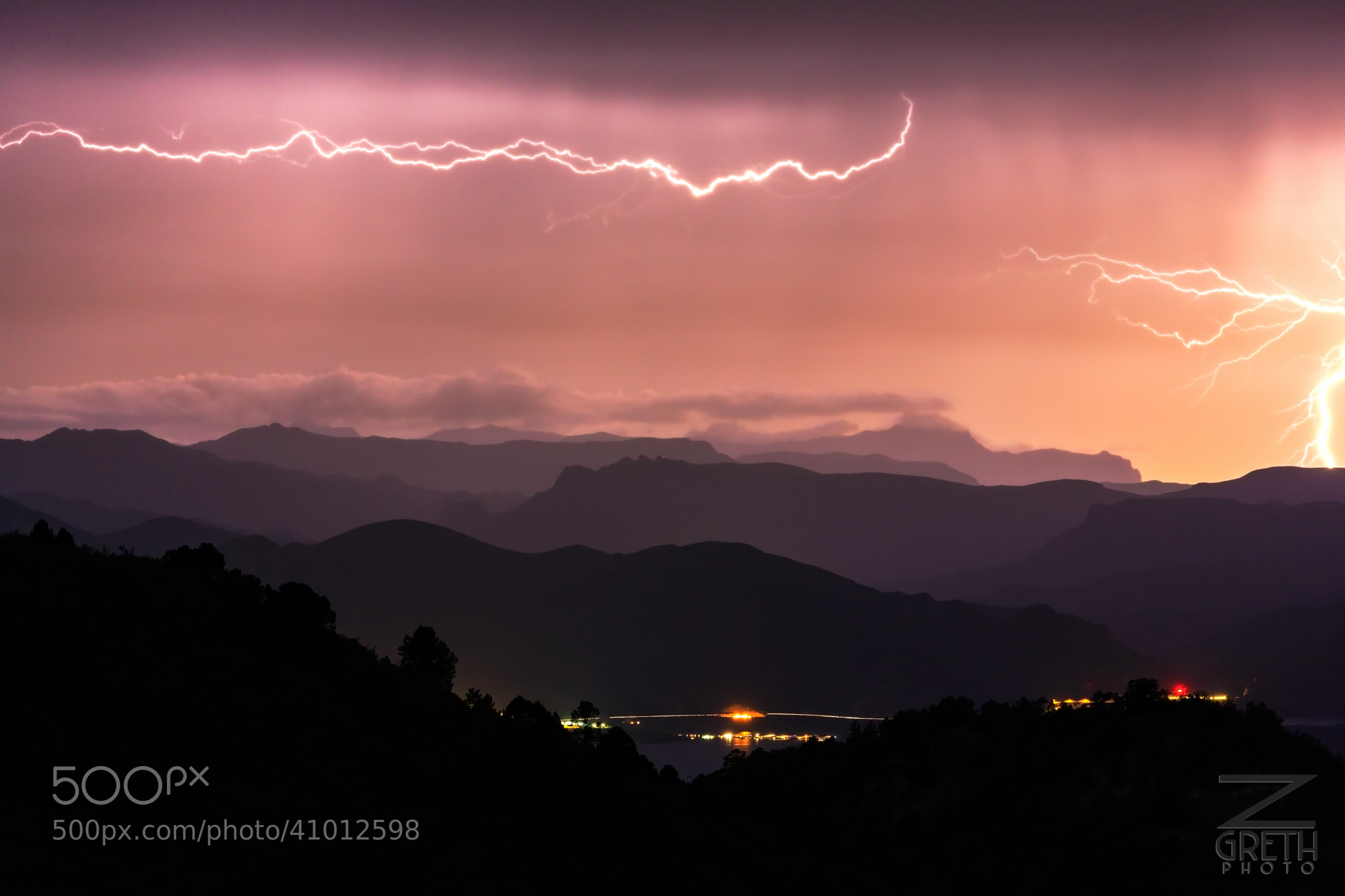 Photograph Roosevelt Lake Lightning by Zach Grether on 500px