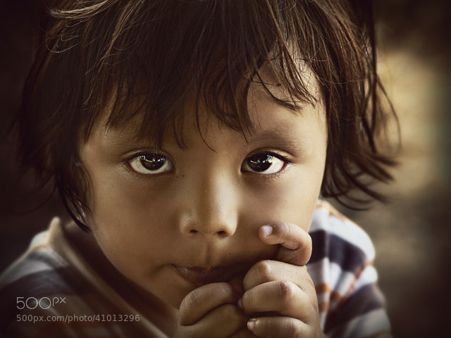 Photograph Shy little girl by Diana  Duque  on 500px