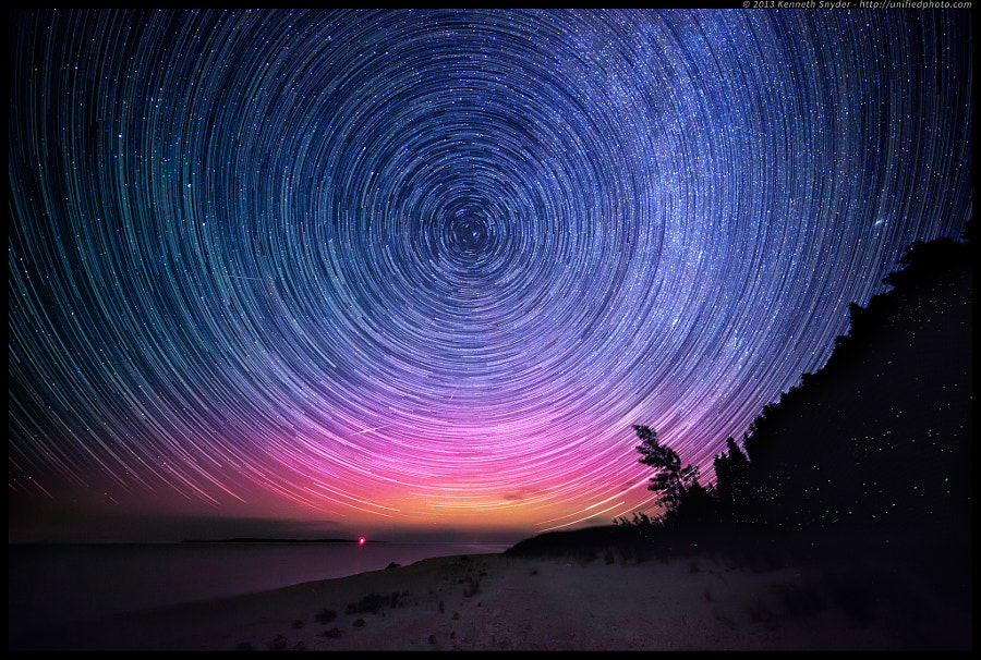 Photograph Michigan Summer Nights Startrails by Kenneth Snyder on 500px