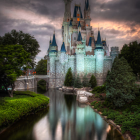 Cinderella Castle at Twilght by Jack Crouse on 500px.com