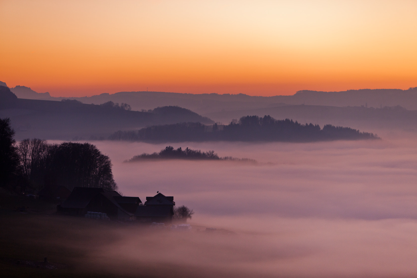 Photograph Foggy sunset by Myriam Spitz Mooser on 500px