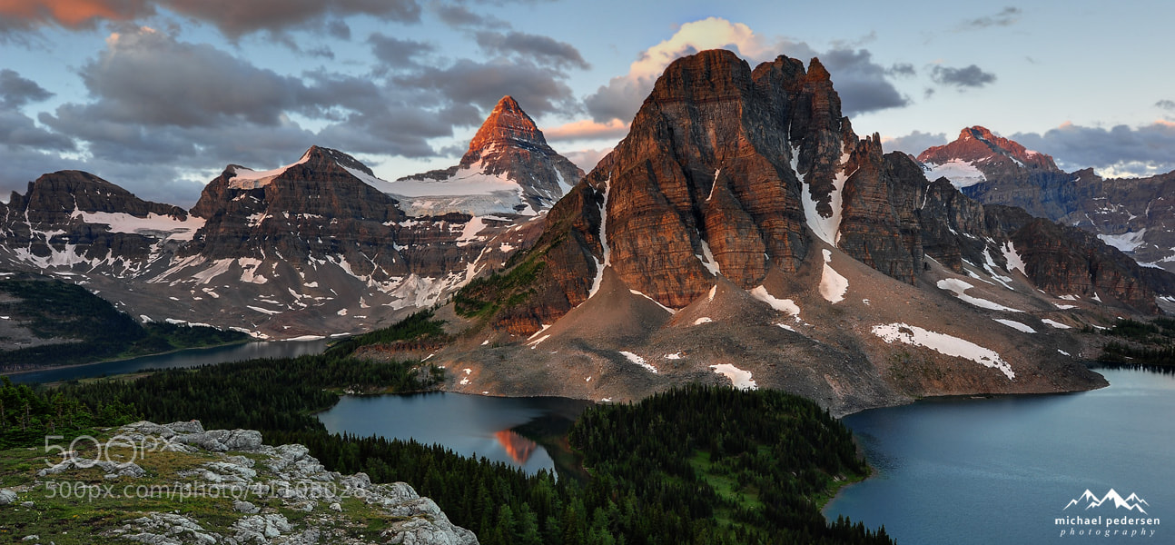 Photograph Looking over Mt Assiniboine and Mt Sunburst by mike pedersen on 500px