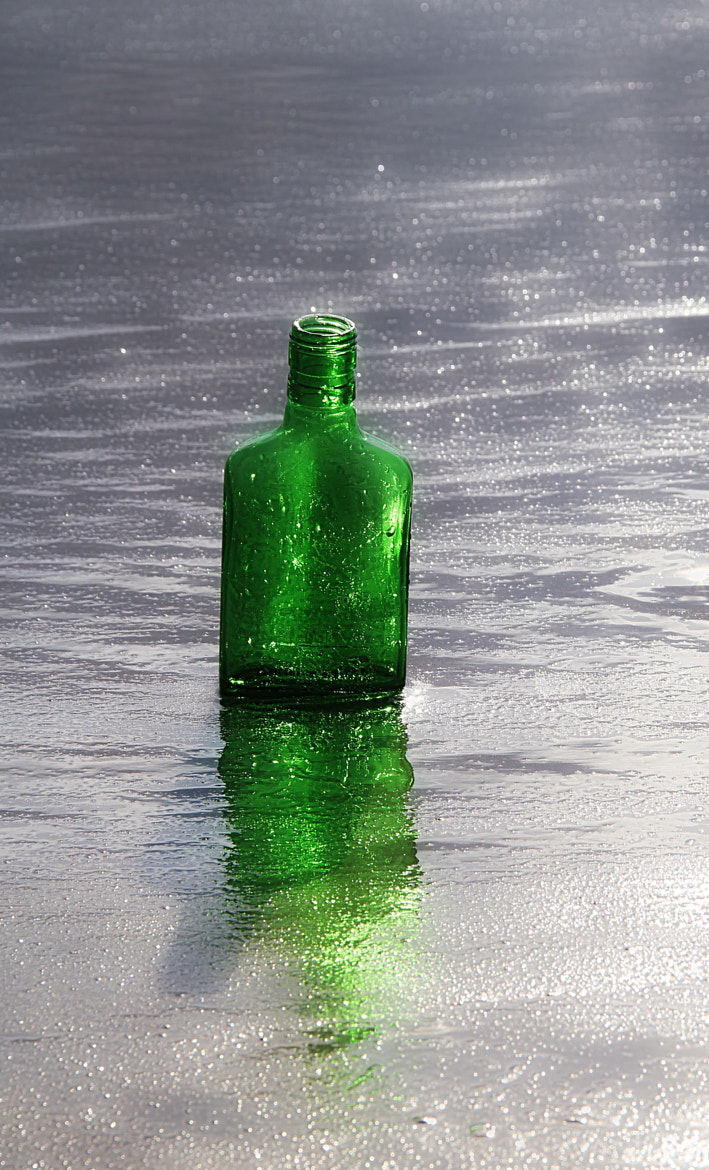 Photograph One green bottle! by Anne Costello on 500px