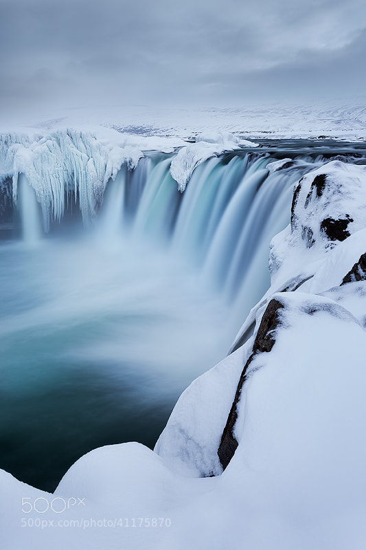 Wintry Godafoss, Iceland by Sarah Marino on 500px.com