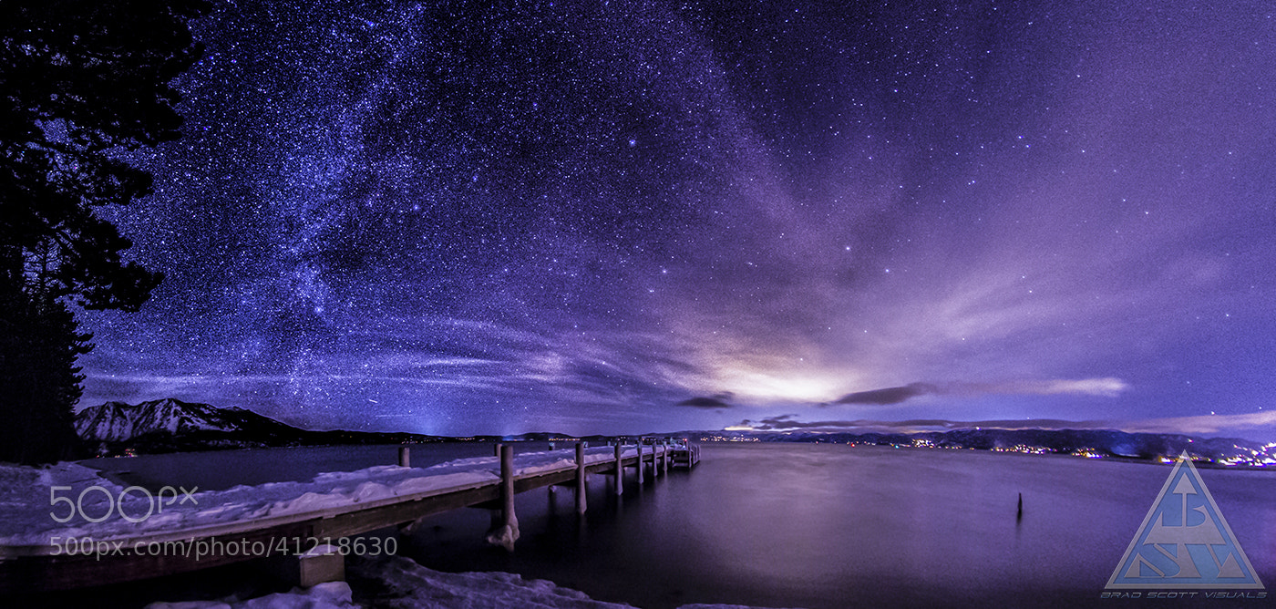 Photograph Milky Way over Valhalla Lake Tahoe by Brad Scott on 500px