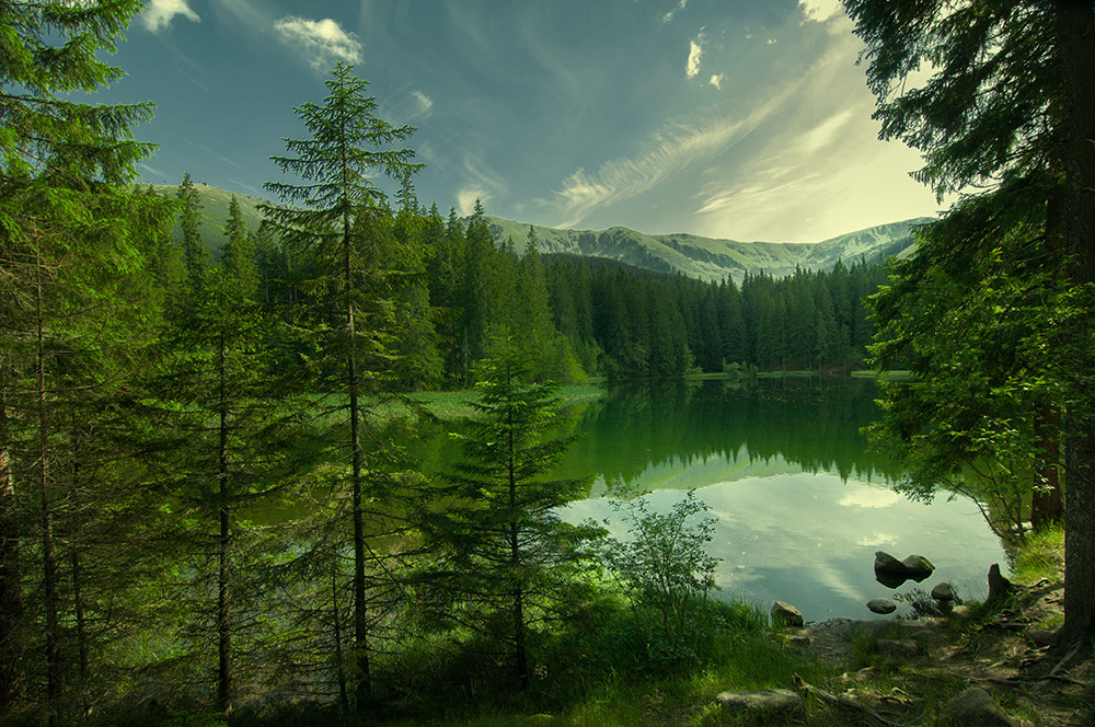 Photograph lake in the mountains by Miroslava Vozar on 500px