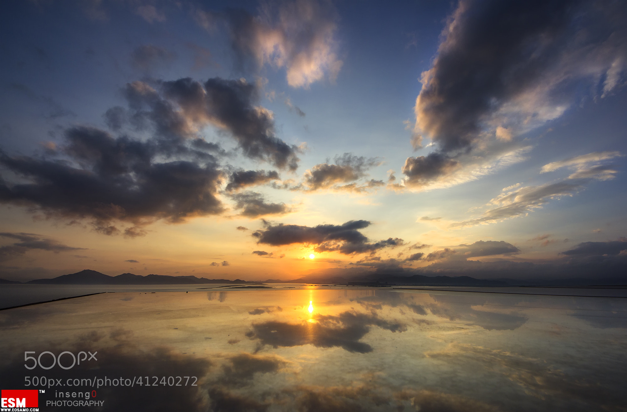 Photograph Reflection of Sunset by chan-wook Kim on 500px