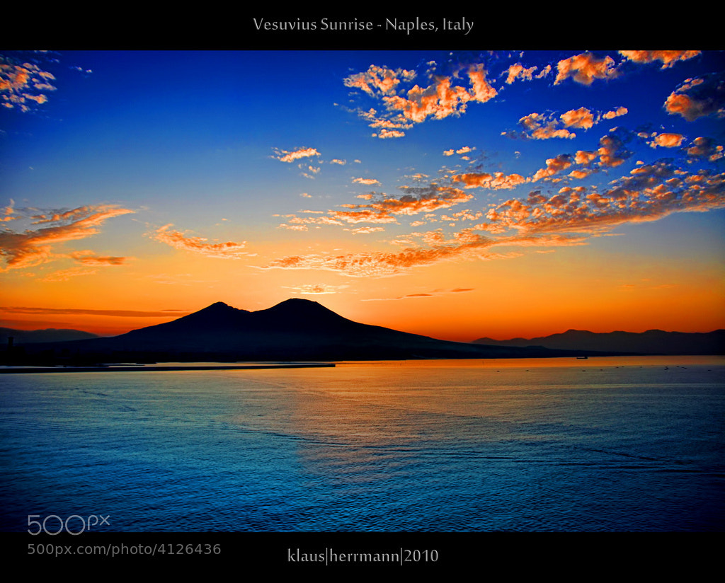 Photograph Vesuvius Sunrise by Klaus Herrmann on 500px
