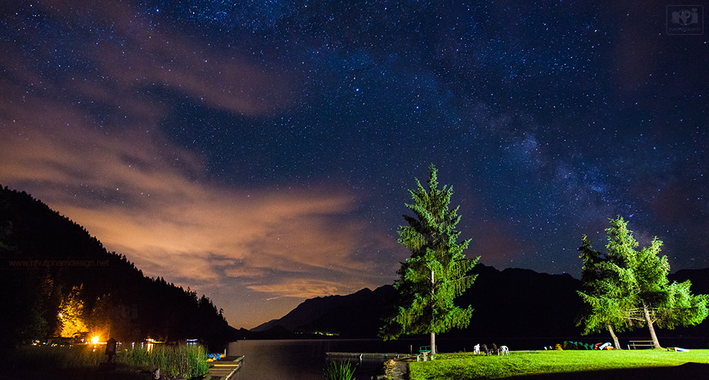 Photograph Milky Way over Lake Crescent by Nhut Pham on 500px