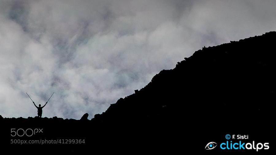 Photograph In comunione con la montagna... (Punta Valletta, Valle d'Aosta - Vallée d'Aoste) by Francesco Sisti on 500px