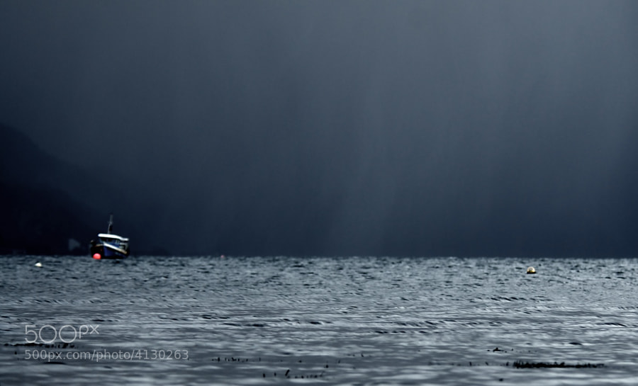 ...over Minard Bay, Argyll