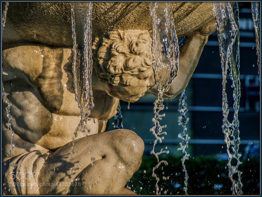 Photograph Fountain detail main train station of Linz by AS'photo ( Arnold ) on 500px