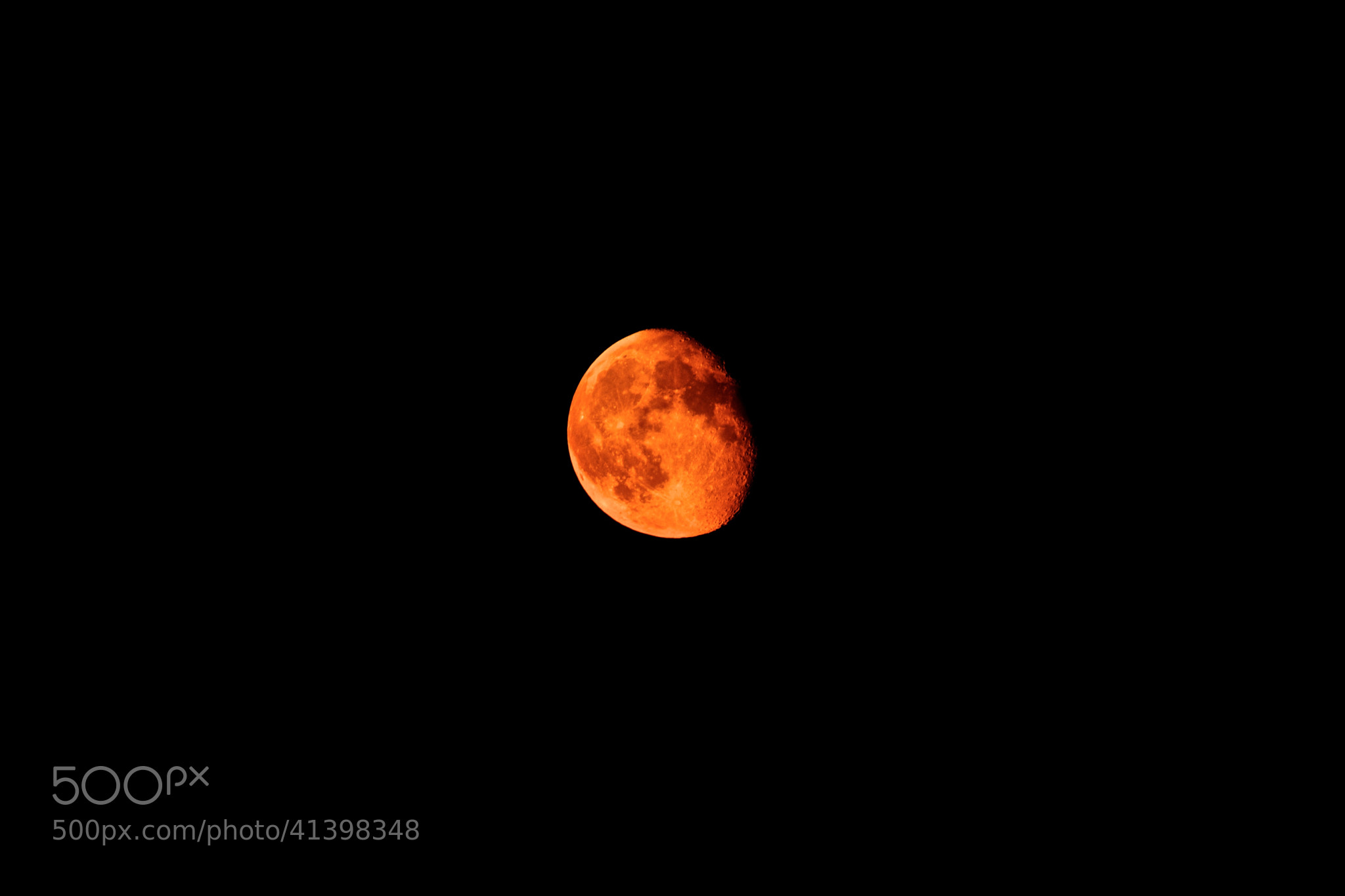 Photograph Blood Moon by Federico Ferro on 500px