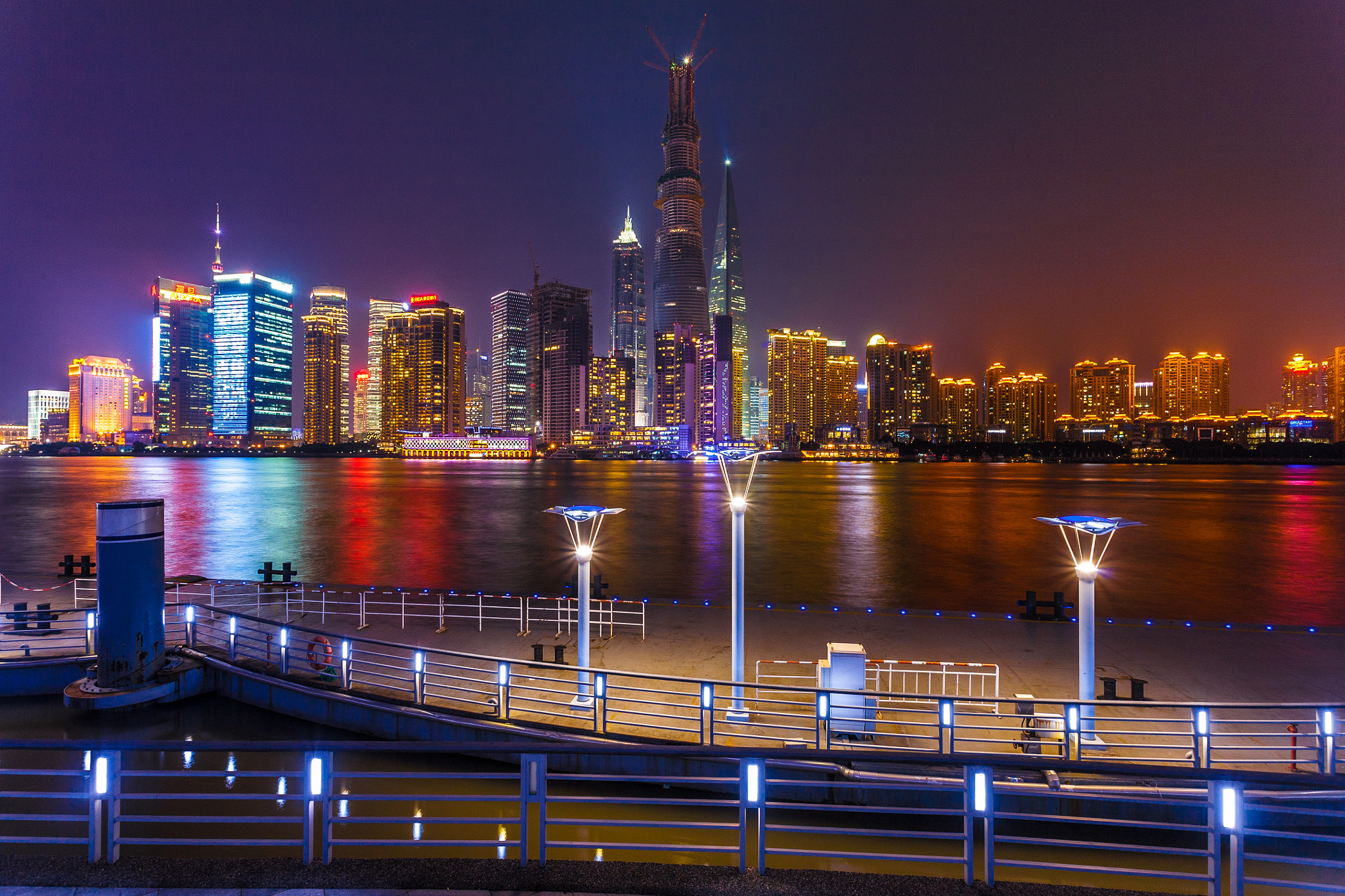 Photograph Shanghai 16th Pier at Night by Anakin Yang on 500px