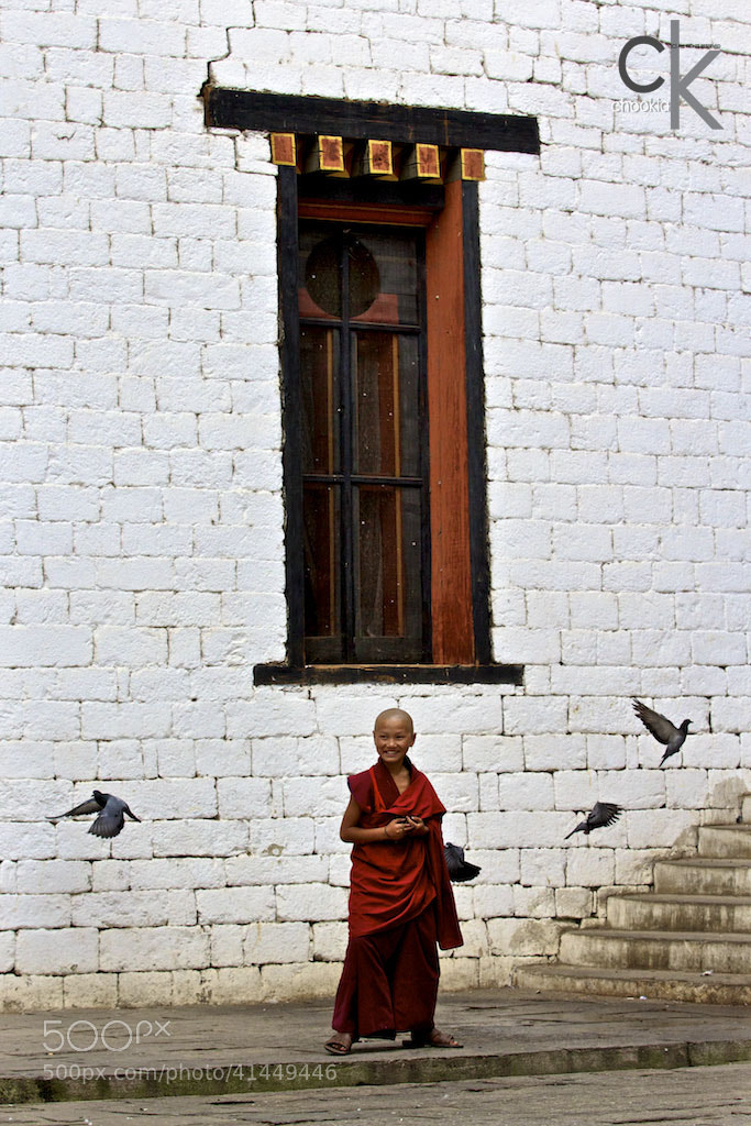 Photograph Little Monk @ Bhutan by CK NG on 500px
