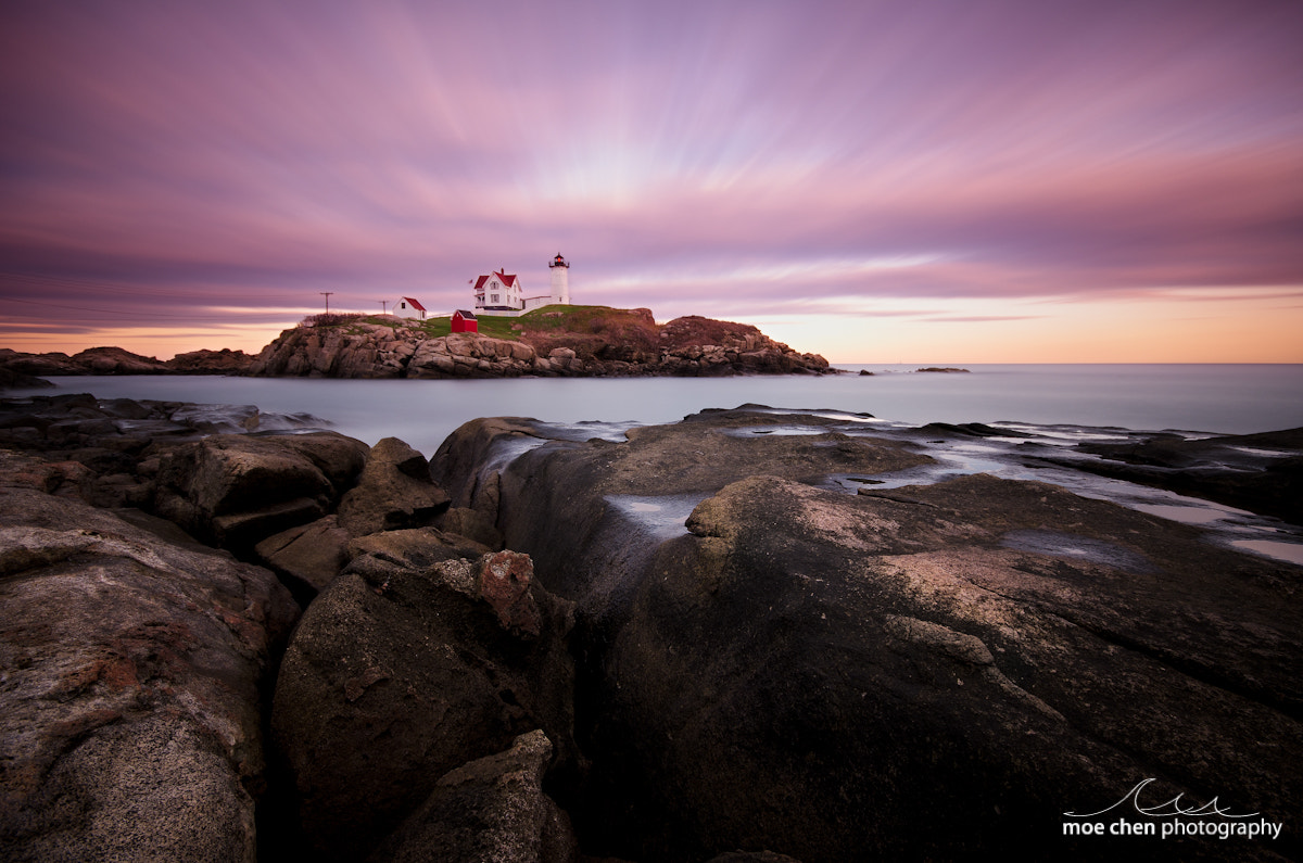 Photograph Nubble Sunset by Moe Chen on 500px